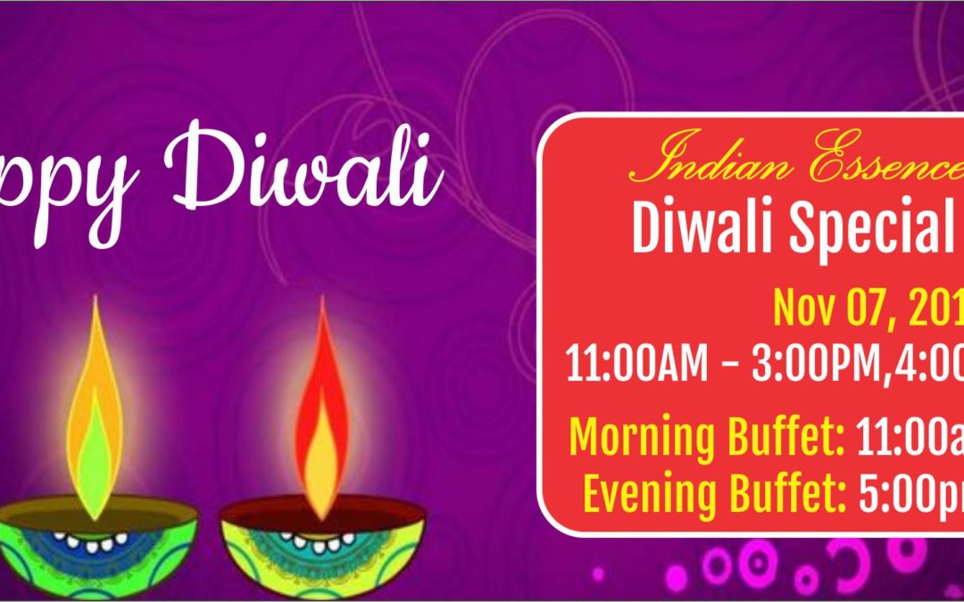 Diwali Special Buffet – Nov 07 2018