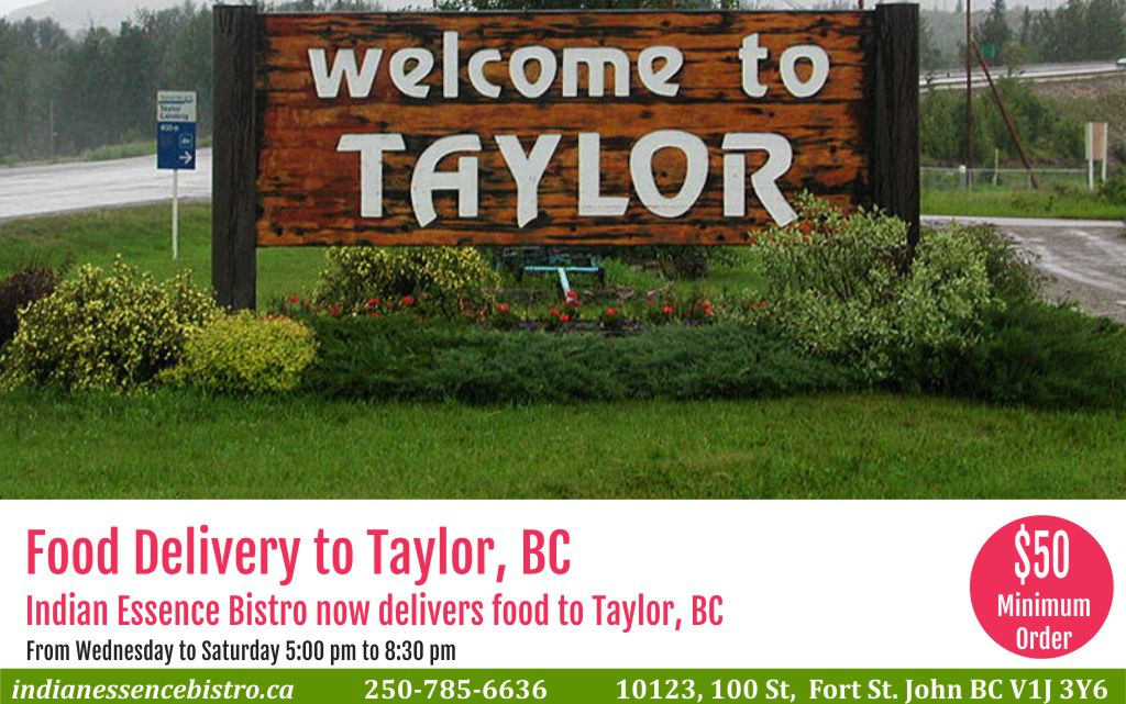 Food delivery to Taylor, BC